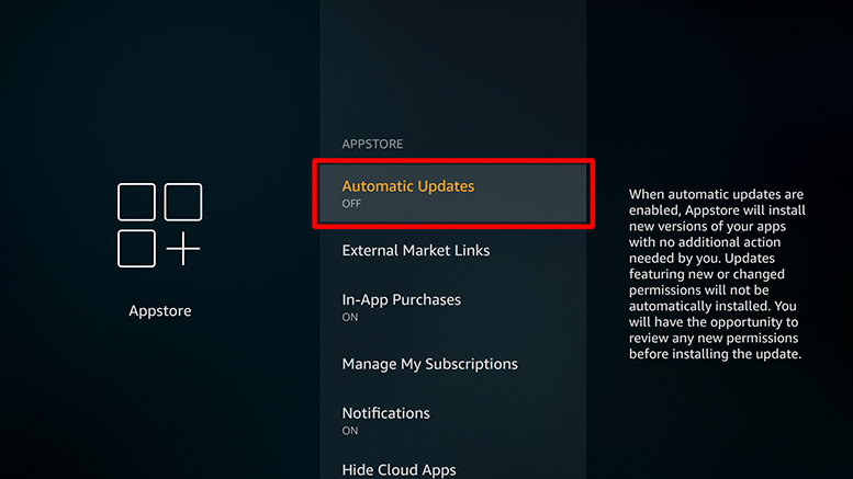 Turn off automatic updates