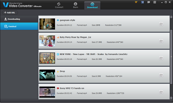 ONLINE VIDEO DOWNLOADER OF WONDERSHARE