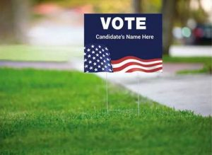 Know the basics of lawn signs